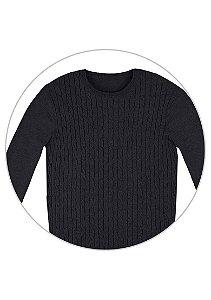 Blusão Masculino Básico Em Tricô Com Textura E Modelo Comfort - XXG