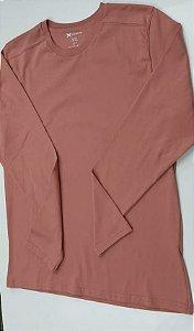 Camiseta Masculina Em Malha Algodão Rosê