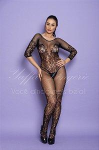 Body Sensual  com Detalhes Rendado