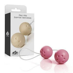 Ben-Wa Conjunto duas Bolas para Pompoar Rosa