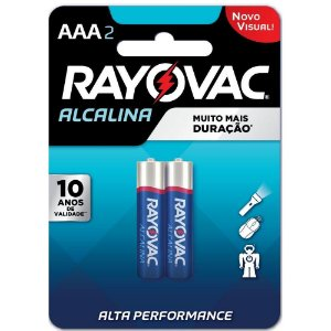 Pilha Alcalina AAA Com 2 Unidades