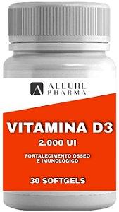 Vitamina D3 2.000 UI - 30 cápsulas