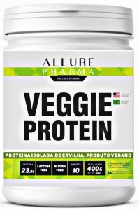 Veggie Protein 400g (Proteína Isolada de Ervilha) Vegano - Natural (Puro)