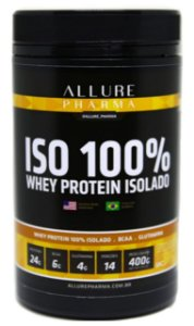 Whey Protein Isolado e Hidrolisado 400g - Banana (100% ZERO LACTOSE - Proteínas e Aminoácidos)