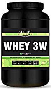 Whey 3W 900g (Whey Protein Concentrado ZERO LACTOSE, Isolado e Hidrolisado) Proteínas e Aminoácidos