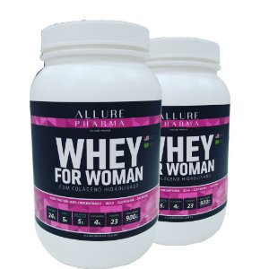 KIT Whey for Woman - Ganhe 50% OFF no 2º pote