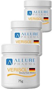 KIT 3 Potes de Verisol® Puro (Selo de autenticidade) Gelita  30 Doses Cada - 90 Doses Total (3 meses) * Peptídeos Bioativos de Colágeno *