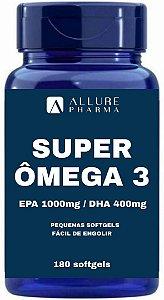Super Ômega 3 1000mg - 180 Softgels (EPA 1000mg/DHA 400mg)
