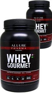 KIT 2 Potes Whey Gourmet 900g (Whey Protein Concentrado) Proteínas e Aminoácidos - 50% OFF no 2º pote
