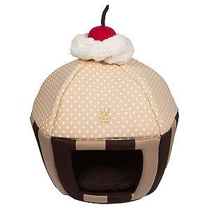 Cama Cachorro Cupcake Marrom Tamanho Único