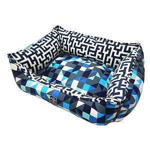 Caminha de Cachorro Retangular Impermeável Premium Azul