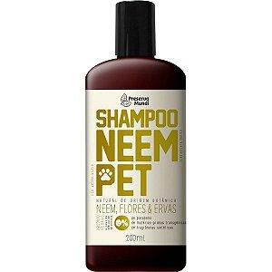 Shampoo Cachorro Repelente Natural Neem Pet Preserva Mundi
