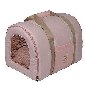 Bolsa Transporte Pet Tela R0113 Rosa Claro Woof Tam Único