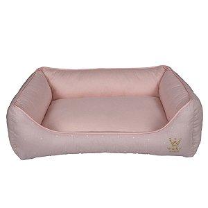 Cama Cachorro Retangular R0113 Rosa Claro Woof Classic