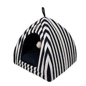 Cama Pet Cabana R0122 Marinho Woof Classic Tam Único