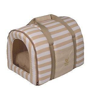 Bolsa Transporte Pet Tela R0121 Bege Woof Tam Único