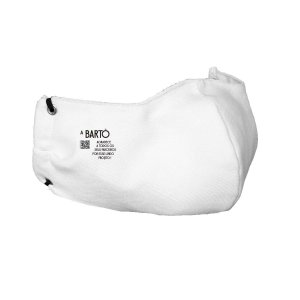 Mascara Tecido Poliéster Dupla Camada Lavável Branca