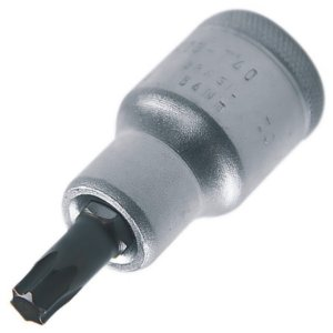 CHAVE SOQUETE TORX T27 CURTA ENC. 1/2 GEDORE