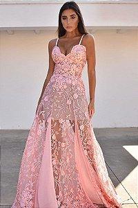 Vestido Monarca Rosa