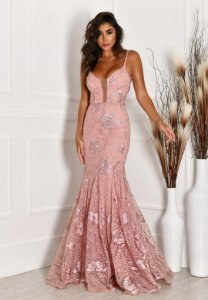 Vestido Det Costas Rosa