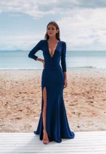 Vestido Elaine Azul Marinho