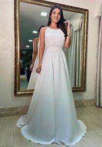 Vestido Faixa Branco