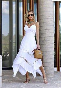 Vestido Cintura Off-White