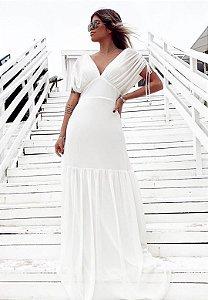 Vestido Det Ombro Branco