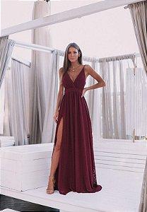 Vestido Lilian Marsala