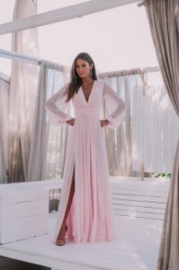 Vestido Fabiola Microtule Rosa
