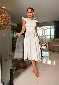 Vestido Cetim Branco