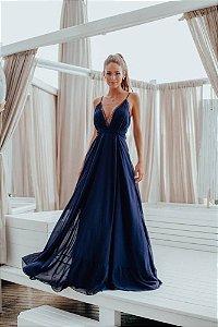Vestido Maju Azul Marinho