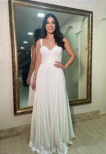 Vestido Alça Branco