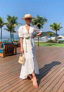 Vestido Laise Botão Branco