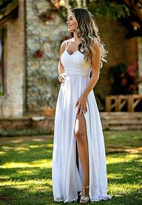 Vestido Florenza Lurex Branco