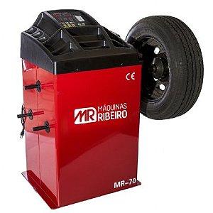 Balanceadora Motorizada Vermelho Mono 10 a 24 Pol. - MAQUINAS RIBEIRO-MR70-V