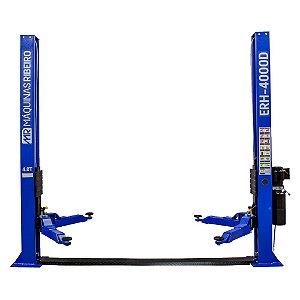 Elevador Automotivo Hidráulico Double Lock Azul Mono 4000kg - MAQUINAS RIBEIRO-ERH4000D-AZ