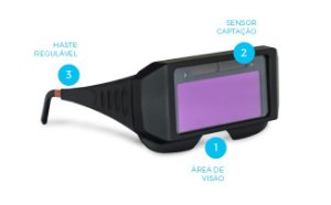 Óculos Automático p/ Solda DIN-11 Fixo Boxer
