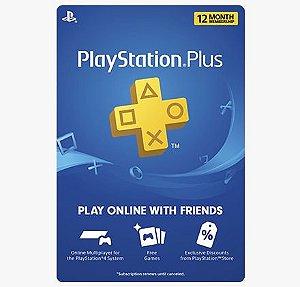 PSN PLUS 1 ANO - PS4 DIGITAL