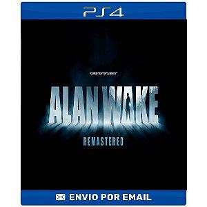 Alan Wake Remastered - PS4 E Ps5 Digital