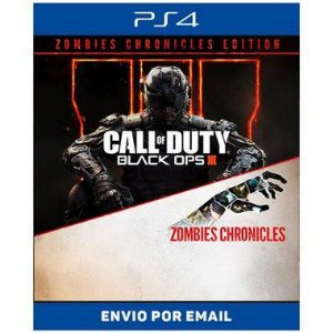Call of Duty Black ops 3 Zombies Chronicles portugues - Ps4 e Ps5 Digital