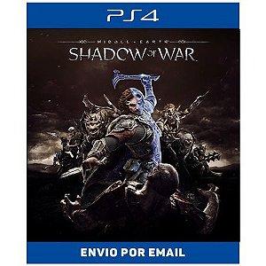 Terra-média Sombras da Guerra - Ps4 Digital