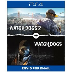 WATCH DOGS 1 E 2 - PS4 DIGITAL