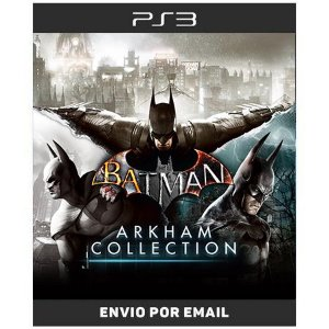 Batman Arkham Collection Asylum City e Origins - Ps3 Digital