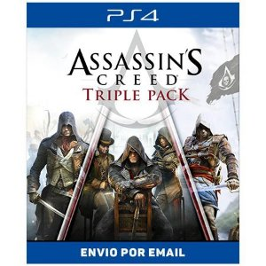 Assassin's Creed Triple Pack: Black Flag, Unity, Syndicate - Ps4 Digital