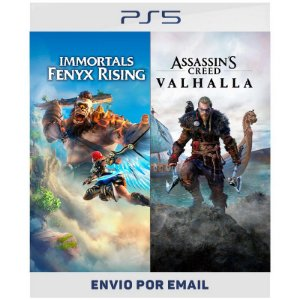 Pacote Assassin's Creed  Valhalla + Immortals Fenyx Rising - Ps4 e Ps5 Digital