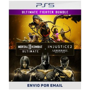 Pacote Mortal Kombat 11 Ultimate + Injustice 2 Ed. Lendária - Ps5 & Ps4 Digital
