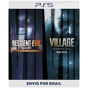 Pacote Completo Resident Evil Village & Resident Evil 7 - PS4 & PS5 Digital