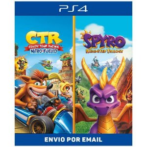 Pacote de Jogos  Crash Team Racing Nitro-Fueled Spyro - Ps4 Digital