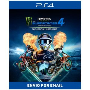 Monster Energy Supercross The Official Videogame 4 - Ps5 & Ps4  DIGITAL